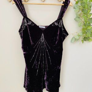 Crossroads Sz 16 Goth Witchy Jewelled Top